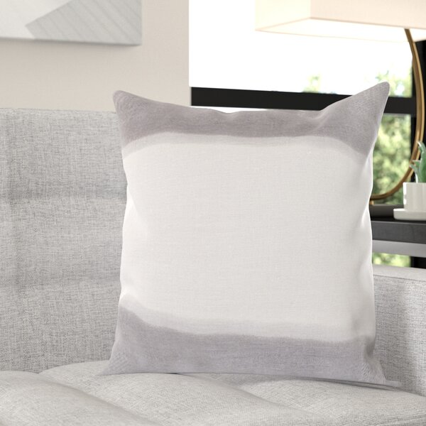 Selena Double Dip 100% Linen Throw Pillow Cover by Wade Logan